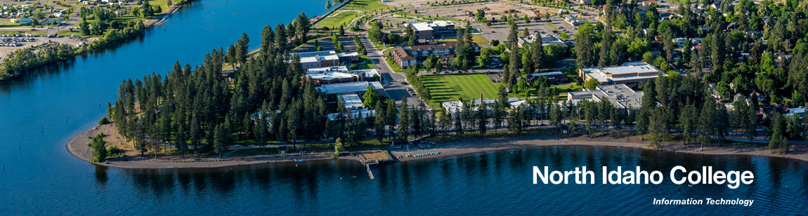 North Idaho College Campus next to the Coeur d'Alene Lake